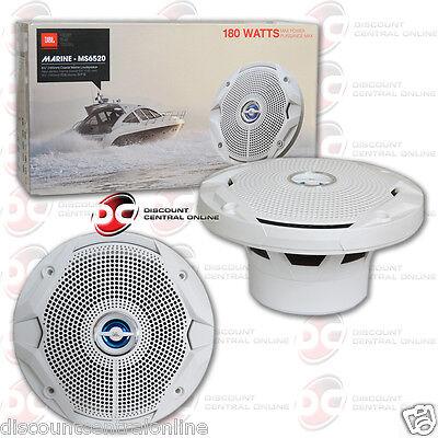 Jbl Ms6520 6 5 Inch 2 Way Marine Boat Car Audio Coaxial Speakers 6 1 2  360W Max