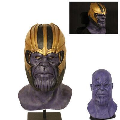 Cosplay Movie The Avengers Thanos Latex Mask Full Headgear Halloween Party Props](The Movie Halloween Full Movie)