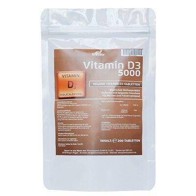 Sonnenschein Vitamin D-3 - 200 Tabletten á 5000 IU - D3 VitaminD3 Hochdosiert