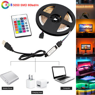 LED TV USB Backlight Kit Computer RGB LED Light Strip TV Background Lights 1M-5M