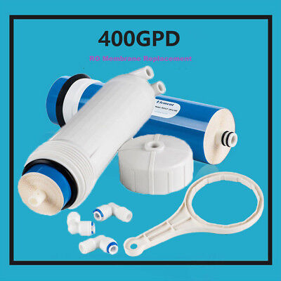 (MS® 400GPD REVERSE OSMOSIS WATER FILTER + 3012 HOUSING + WRENCH + 3 FITTINGS HOT)