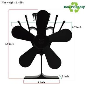 New Model Five Blades Eco Friendly Heat Powered Wood Stove Fan 123010