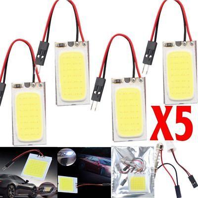 Universal Dome - 5pcs 48 SMD COB LED T10 4W 12V Car Interior Panel Light Dome Lamp Bulb Universal