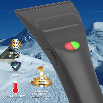 US Ice Shovel Car Windshield Snow Scraper Electric Cleaning Removal Brush Tools