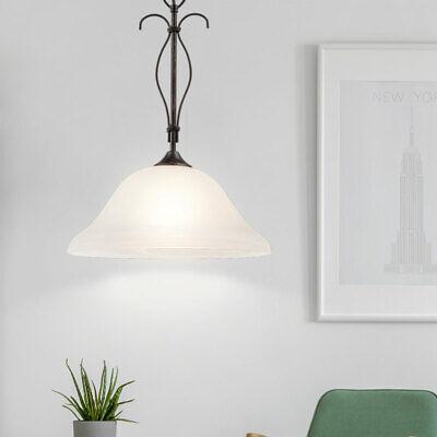 Vintage Colgante Péndulo Lámpara Salón Entarimados Cristal Araña de Óxido Luz