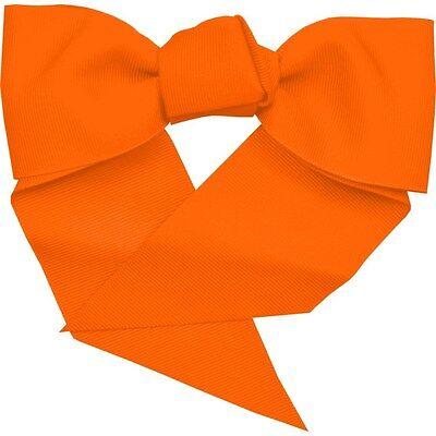NWT ORANGE HALLOWEEN CHEER BOW W/PONYTAIL HOLDER - ADORABLE! - Halloween Cheer Bows