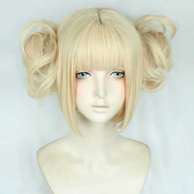 Anime My Boku no Hero Academia Himiko Toga Light Blonde Ponytail Wig+Cap Cosplay
