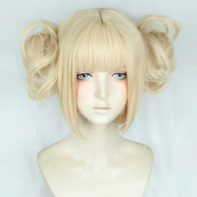 Anime My Boku no Hero Academia Himiko Toga Light Blonde Ponytail Wig+Cap Cosplay