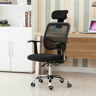 Adjustable Mesh High Back Office Chair Computer Desk Seat W Headrest Black