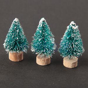 6pc Christmas Decoration Mini Tree Ornaments Tavern Shop Bar Pub Home Decor  WT