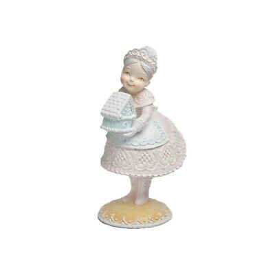 December Diamonds Gingerbread Mrs Claus with Candy House Figurine