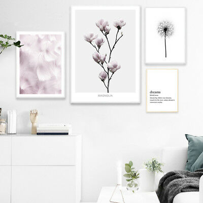 Flower Feather Poster Quotes Scandinavia Style Wall Art Canvas Prints Home Decor](Feather Wall Art)