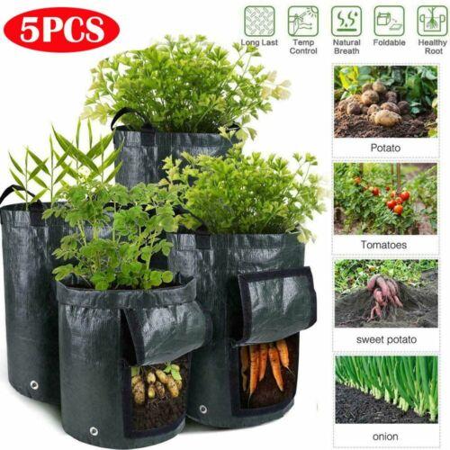 5pcs 7 Gallon Potato Planting Bag Pot Planter Growing Garden Vegetable Container
