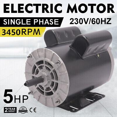 5hp Compressor Duty Electric Motor 1phase 3450rpm 56frame 78 Shaft 230v Us