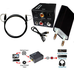 DAC Optical Toslink Coaxial Digital Analog Cinch L/R Audio To Analog Converter