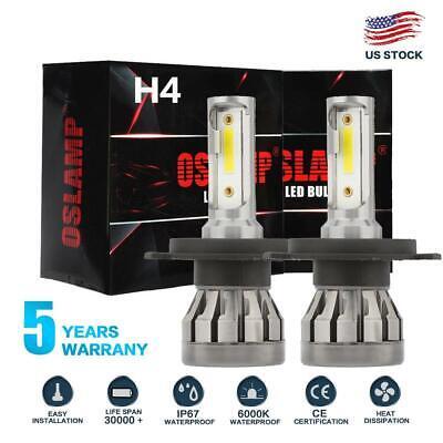 MINI H4 HB2 9003 1500W 225000LM LED Headlight Kit HiLo Power Car Fog Bulb 6000K