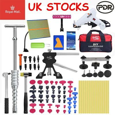 UK PDR Tools Dent Lifter Puller Paintless Hail Removal Auto Body Kit Glue Gun