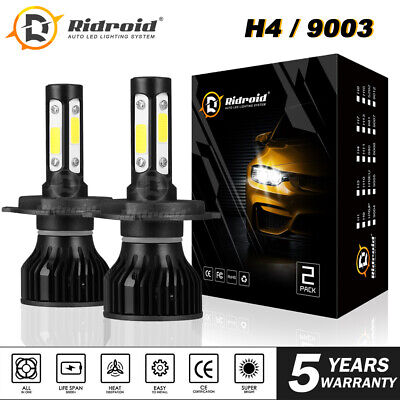H4 / 9003 4-Sides LED Headlight Conversion Kit 2400W 360000LM Hi/Lo Beam Bulb