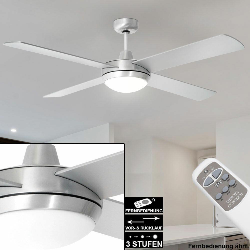 LEISER Deckenventilator 60Watt mit Licht Fernbedienung 132 cm Lüfter TIMER Lampe