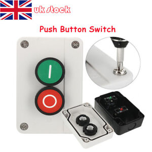 XEL-2 Push Button Station Switch Remote Start Stop Motor Solenoid IP55 Box