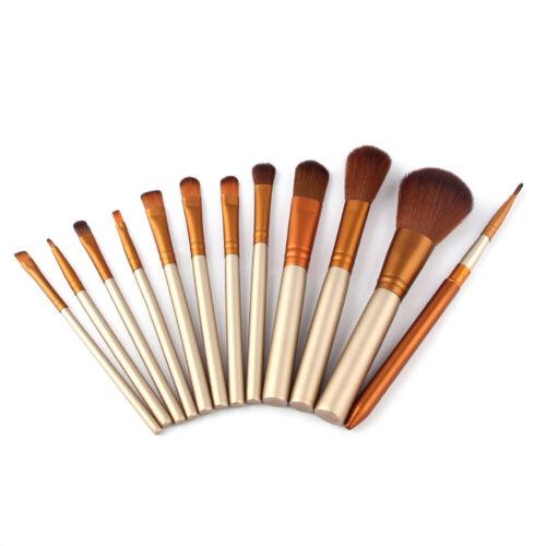 12pcs pro makeup brushes set foundation powder