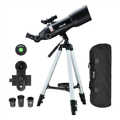 ESSLNB 400X 80mm Astronomical Observer Telescope Refractor w/ Backpack Tripod