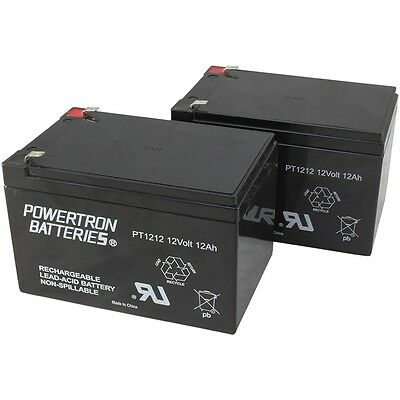 2 BATTERIES FOR  EZIP SCOOTER 400 500 650 750 AND 900