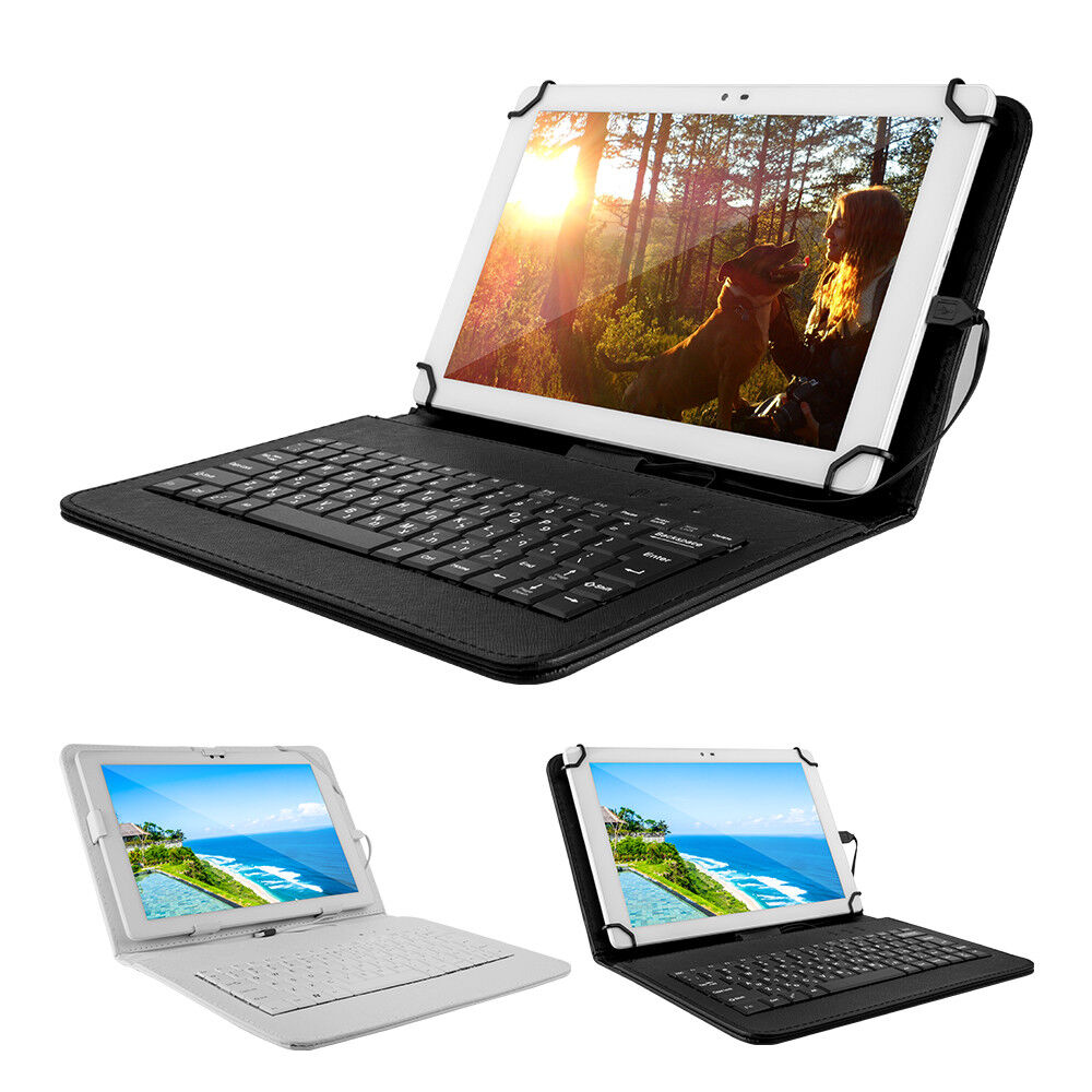 """Tablet - 10.1"""" Tablet PC Android 5.0 32GB 1GB Quad-core HD Wifi W/ Leather Keyboard Case"""