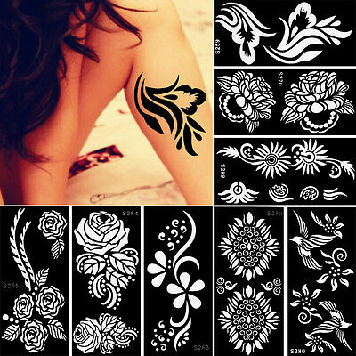 Airbrush Body Art Paint Temporary Henna Tattoo Stencil Christmas Gifts Templates - Christmas Tattoos