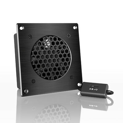 "AIRPLATE S1, Quiet Cabinet Fan 4"" for Home Theater AV Amplifier Media Cooling"