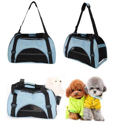 Pet Carrier Totes Shoulder Bag Cat Dog Puppy Soft Sided Travel Large Blue