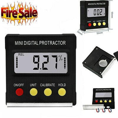 Digital Lcd Protractor Gauge Level Box Angle Finder Inclinometer Magnet Meter Bl