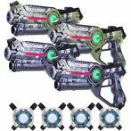 Light Battle Active Camo Lasergame Set - 4 Pack + 4 vesten