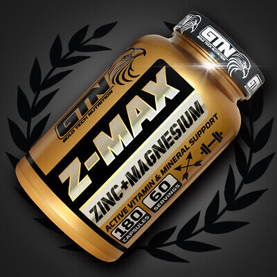 GOLD TECH NUTRITION 180 ZMA TABLETS - SLEEP,TESTOSTERONE,MUSCLE GROWTH&BOOSTER