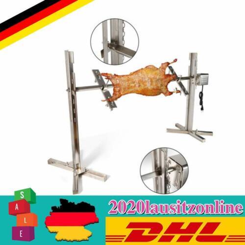 Elektrische BBQ Grillspieß mit Edelstahl Motor 220V Drehspieß Gasgrill Edelstahl