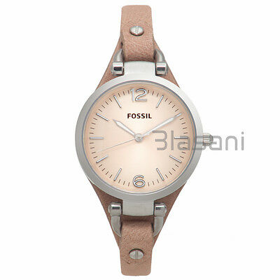 Fossil Original Es2830 Womens Georgia Bone Leather Watch 32Mm