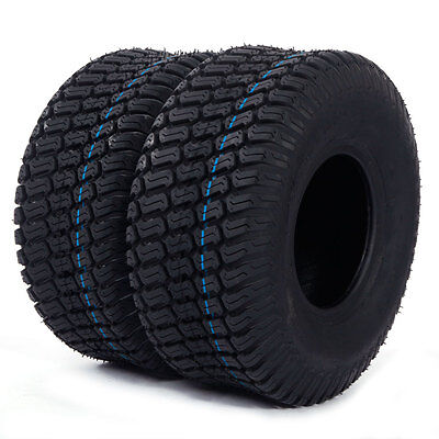 Set of 2 15x6.00-6 Turf Tires 4 Ply Lawn Mower Tractor Factory Direct