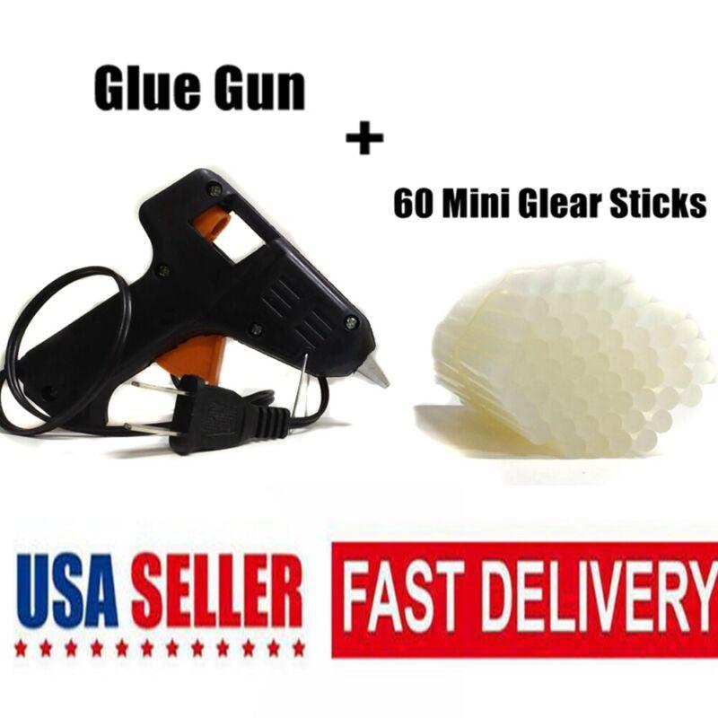 Hot Melt Glue Gun With 60 Sticks DIY Electric Heating Applicator Art Craft Tool