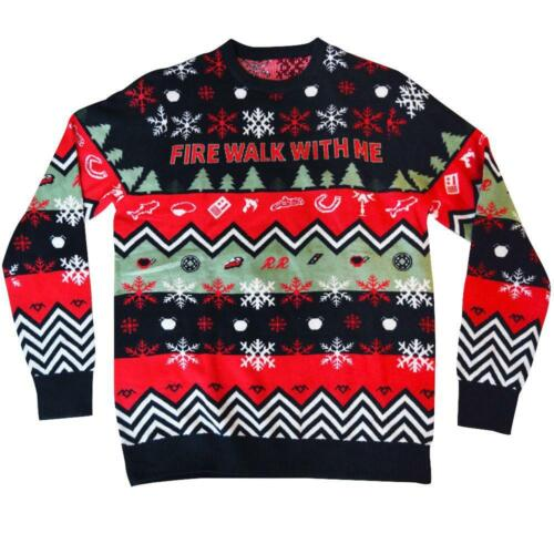 Twin Peaks Fire Walk With Me Ugly Christmas / Holiday Sweater - Size Large - NEW