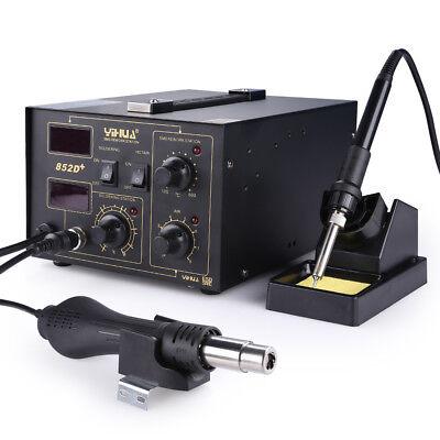 2in1 Digital Regelbare Lötstation 852D+ Lötspitzen Lötzinn Heißluft 480℃ 700W