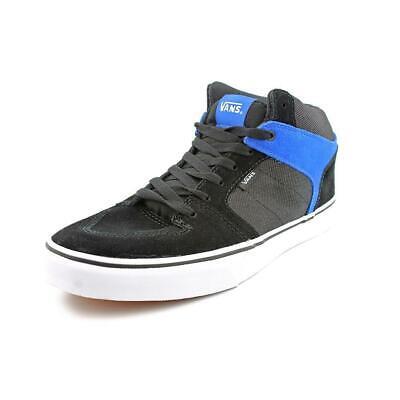 NEW!! VANS Ellis Mid (Suede/Textile) Black/Blue Skate Shoes