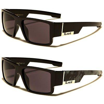 LOCS Rectangular Gangster Black Shades Mens Designer (Black Shades Sunglasses)