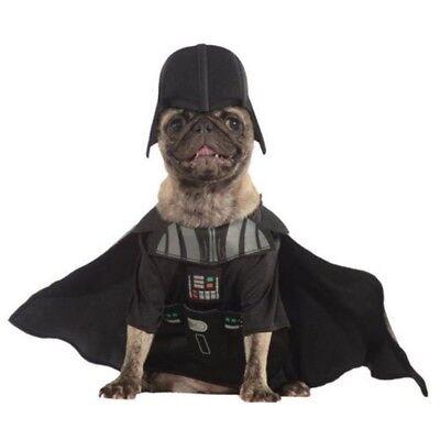 Rubies Offizieller Darth Vader Hundekostüm Star Wars Dunkle Seite Übel Schurke