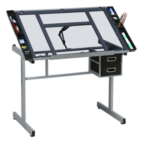 Home Office Adjustable Drafting Table Art Artist Drawing Cra