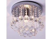 Job lot Small Modern Crystal Chandelier Ceiling Lamp ...£49 retail