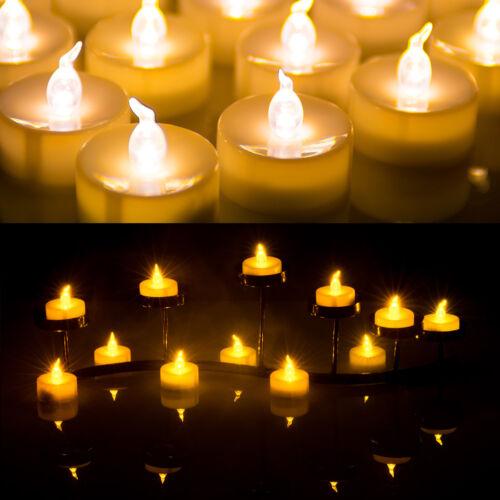 24X LED Amber Yellow Battery Tea Light ...