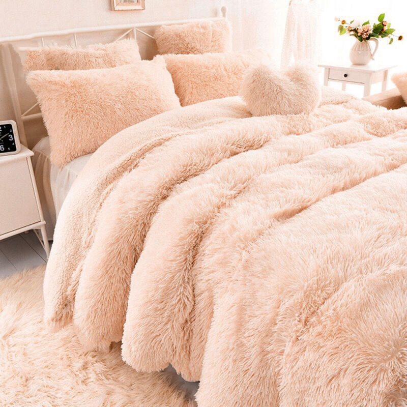 Faux Fur Mink Throw Single Double and King Size Sofa Blanket Bed Throw