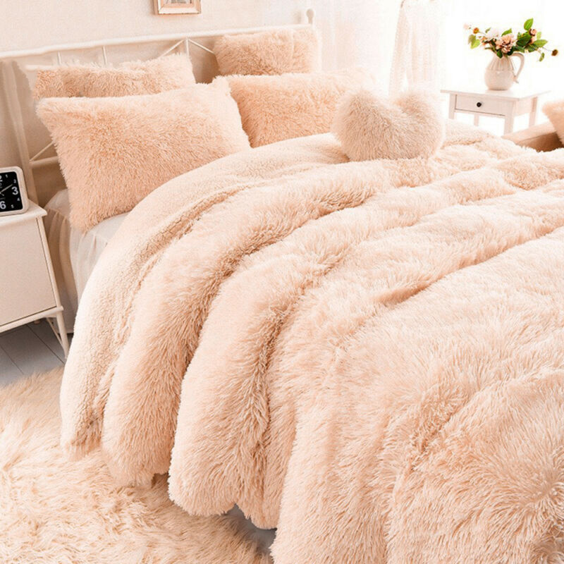 Faux Fur Throw Fleece Blanket Double King Size Single Mink Sofa Bed Luxury Large