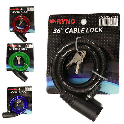 "36"" Bicycle Bike Anti-Theft Security Steel Cable Lock Chain"