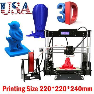 Anet A8 3d Printer High Precision Reprap I3 Diy Kit Mk8 Extruder Nozzleacrylic